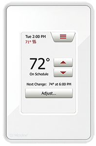 Programmable Touch thermostat for radiant heated floor system.