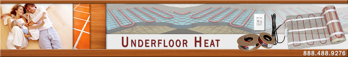 Radiant underfloor heating banner